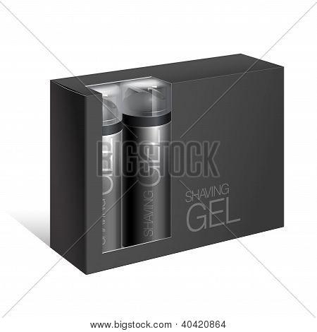 Black Gift Package Cardboard Box