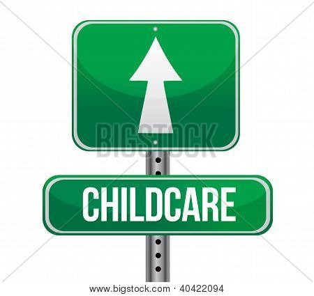 Traffic Sign With A Childcare Concept
