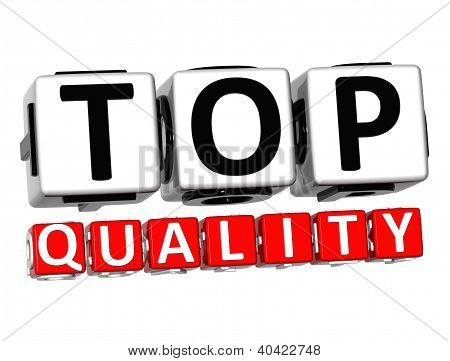 3D Top Quality Button Click Here Block Text