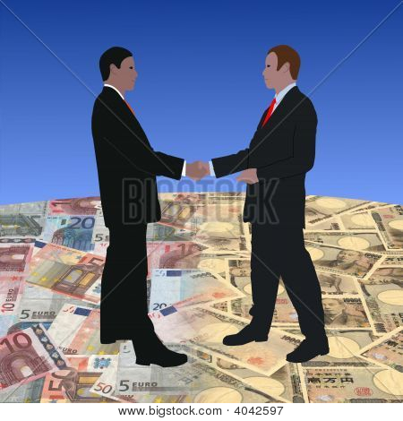 Meeting On Euros And Yen