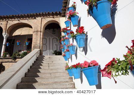 bunte Atrium in Cordoba, Spanien