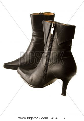 Black High Heeled Boots
