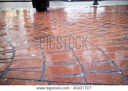 Cobblestone In Circular Pattern
