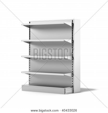 Empty Retail Store Shelf
