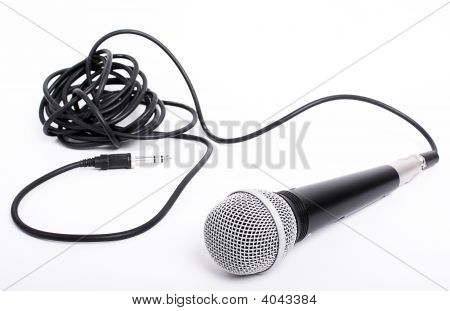 Microphone With Cord For Lead Singer