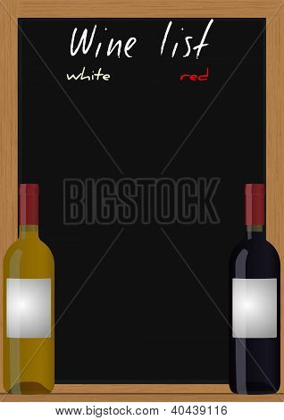 Wine List Chalkboard