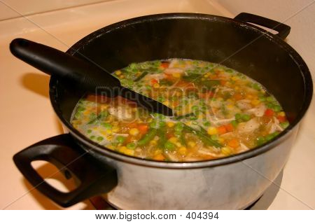 Pot Of Chicken Soup