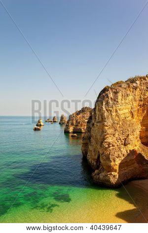 Dona Ana beach at Lagos, Algarve, Portugal