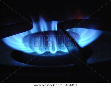 Gas Burner Close