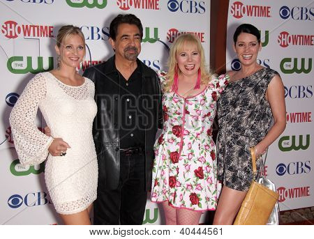 LOS ANGELES - 03 de agosto: Elenco de Criminal Minds, AJ COOK, JOE MANTEGNA, KIRSTEN VANGSNESS & verão TCA P
