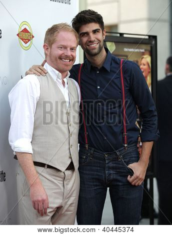 "LOS ANGELES - AUG 23:  Jesse Tyler Ferguson & Boyfriend ""Bachelorette"" Los Angeles Premiere  on August 23, 2012 in Hollywood, CA"