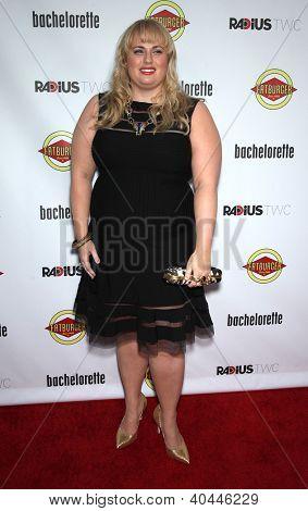 "LOS ANGELES - AUG 23:  Rebel Wilson ""Bachelorette"" Los Angeles Premiere  on August 23, 2012 in Hollywood, CA"