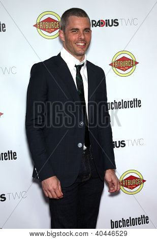"""LOS ANGELES - AUG 23:  James Marsden """"Bachelorette"""" Los Angeles Premiere  on August 23, 2012 in Hollywood, CA"""