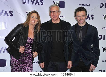 LOS ANGELES - DEC 16:  Dr. Drew Pinsky & Family arrives to VH1 Diva's 2012  on December 16, 2012 in Los Angeles, CA