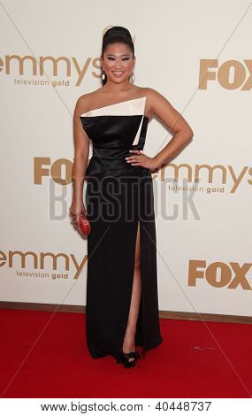 LOS ANGELES - AUG 11:  JENNA USHKOWITZ arriving to Emmy Awards 2011  on August 11, 2012 in Los Angeles, CA