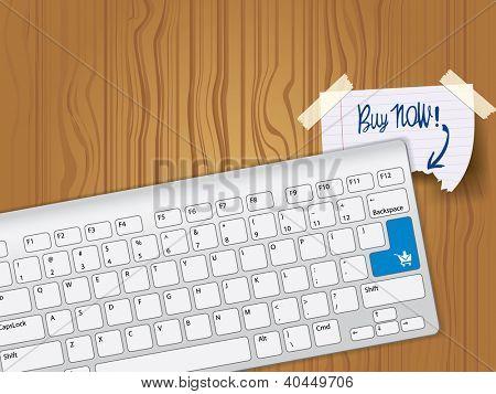 Kaufen Sie jetzt - blau wichtige Computer-Tastatur