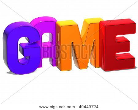 3D Word Game On White Background