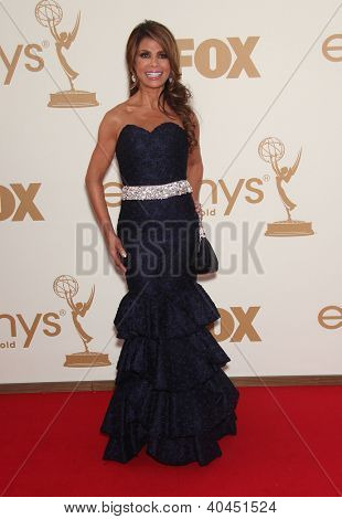 LOS ANGELES - AUG 11:  PAULA ABDUL arriving to Emmy Awards 2011  on August 11, 2012 in Los Angeles, CA