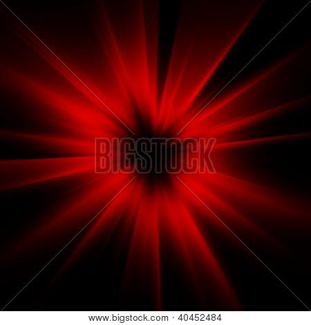 A red color design with a burst