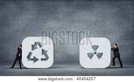 Recycle Arrows. Recycle symbol illustration on grey background