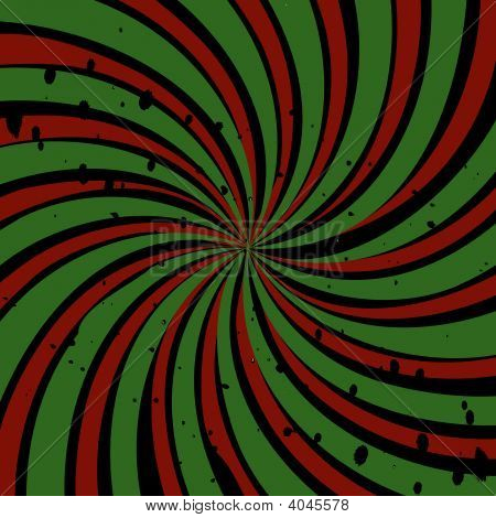 Red Green Swirl Grunge