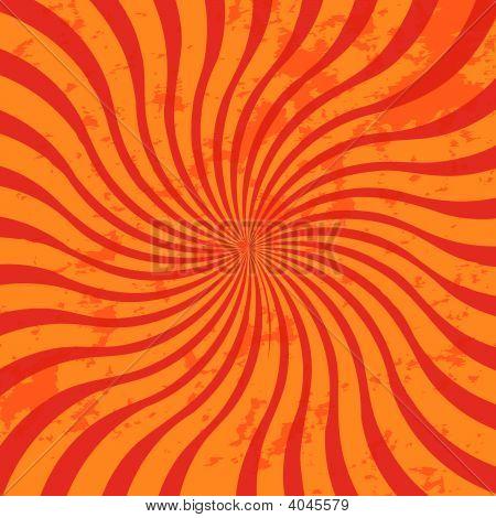 Red Grunge Sunburst Swirl
