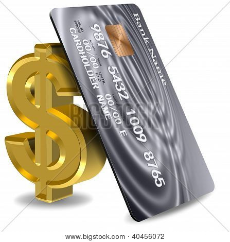 Credit Card And Dollar