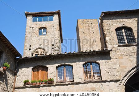 Palace of Alessandri. Viterbo. Lazio. Italy.