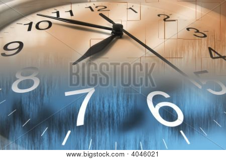Close Up Of Clock Face