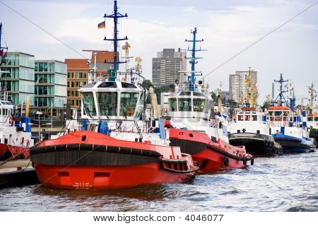 Tugboats In A Row