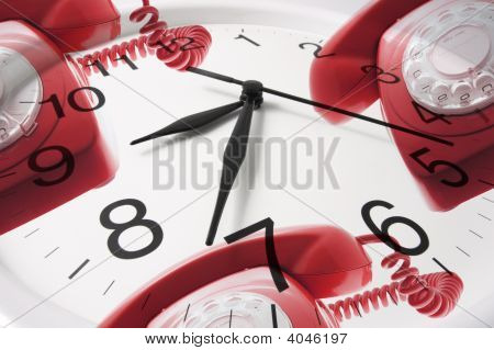 Clock Face And Phones