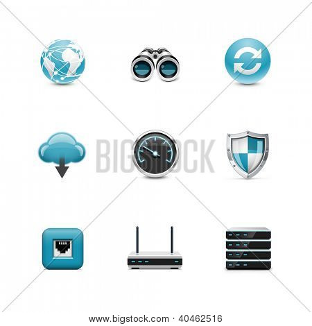 Network and wireless icons