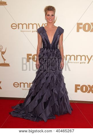 LOS ANGELES - AUG 11:  HEATHER MORRIS arriving to Emmy Awards 2011  on August 11, 2012 in Los Angeles, CA