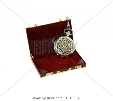 Pocket Watch In Briefcase