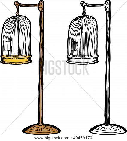Empty Antique Bird Cage