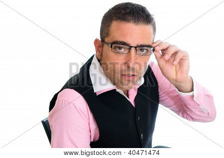 Successful Businessman With Glasses