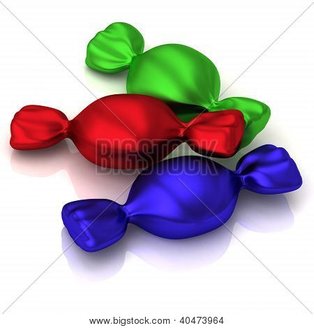 Colorful candy 3d