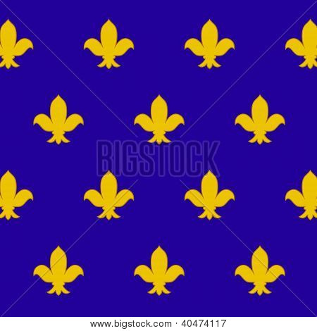 Fleur de lys  royal lily  seamless pattern, vector