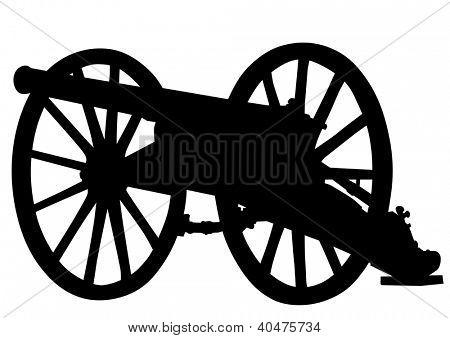 drawing of a retro old gun