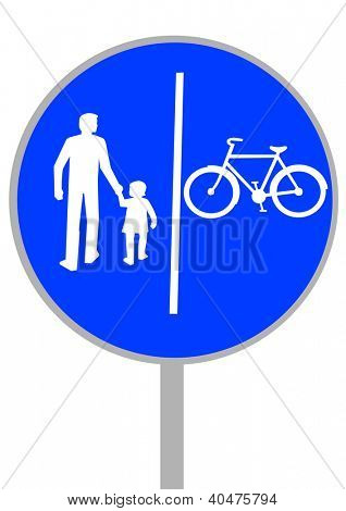 image of a road sign bikeways