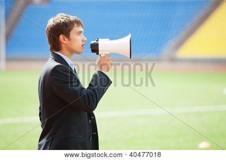 Business Announcement Through Loudspeaker 2