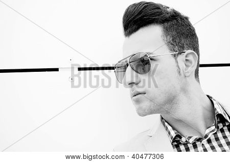 Attractive Man With Tinted Sunglasses