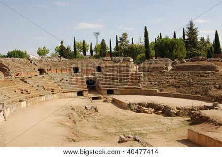 Roman Amphitheatre In Merida (spain)