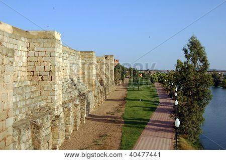 Walls Of The Alcazaba Of Merida
