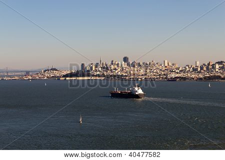 Cargo Ship In The San Francisco Bay