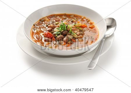 homemade minestrone soup, italian cuisine