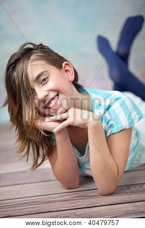 Cheerful young girl