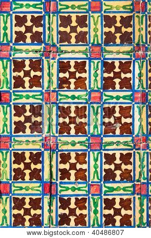Azulejo - Old Ceramic Tile Background