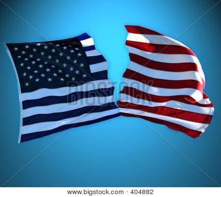 América dividida rojo vs azul
