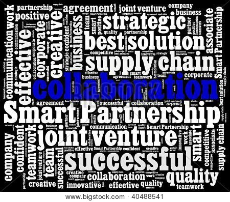 Smart Partnership concept in word collage